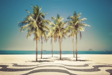 Palms on Copacabana Beach in Rio de Janeiro