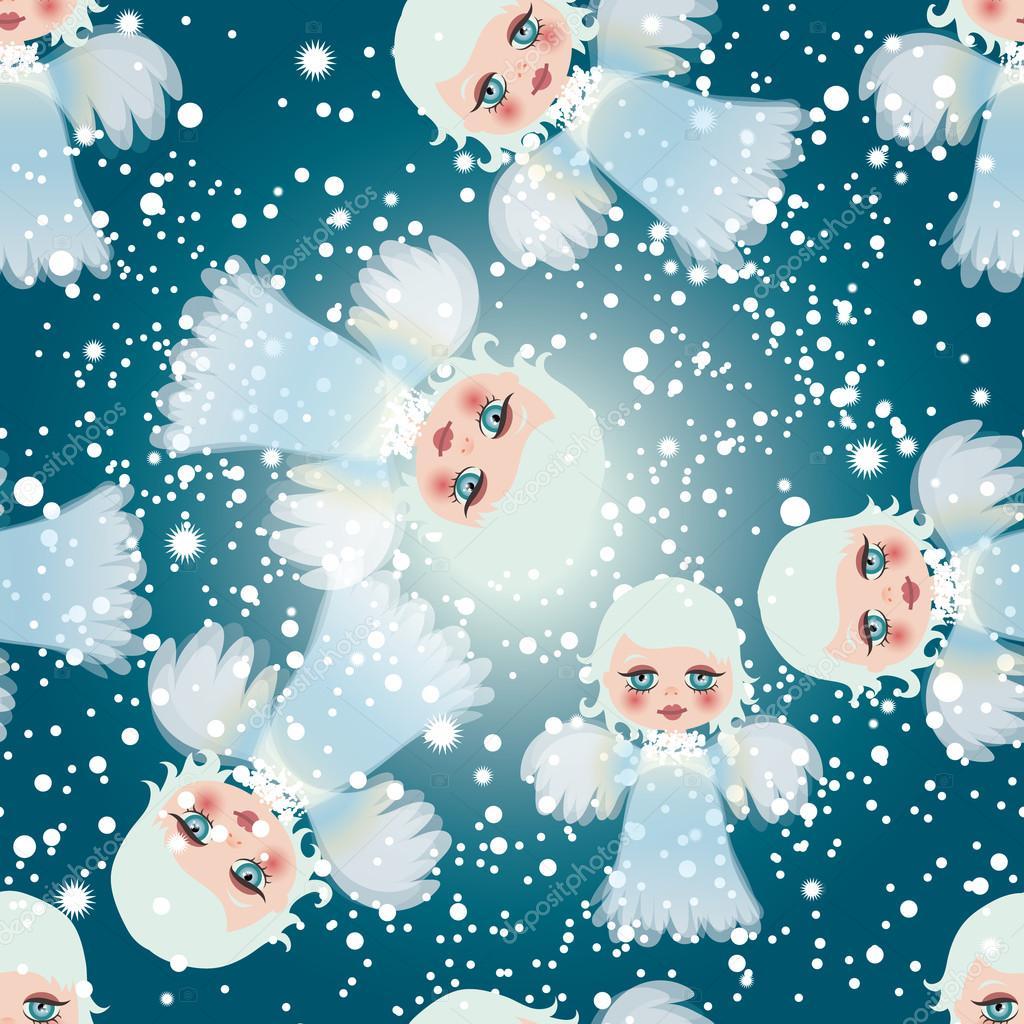 Fondo Fondos De Cielo Con Angelitos Adorables Angelitos En El