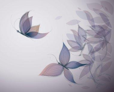 Violet Flowers like Butterflies