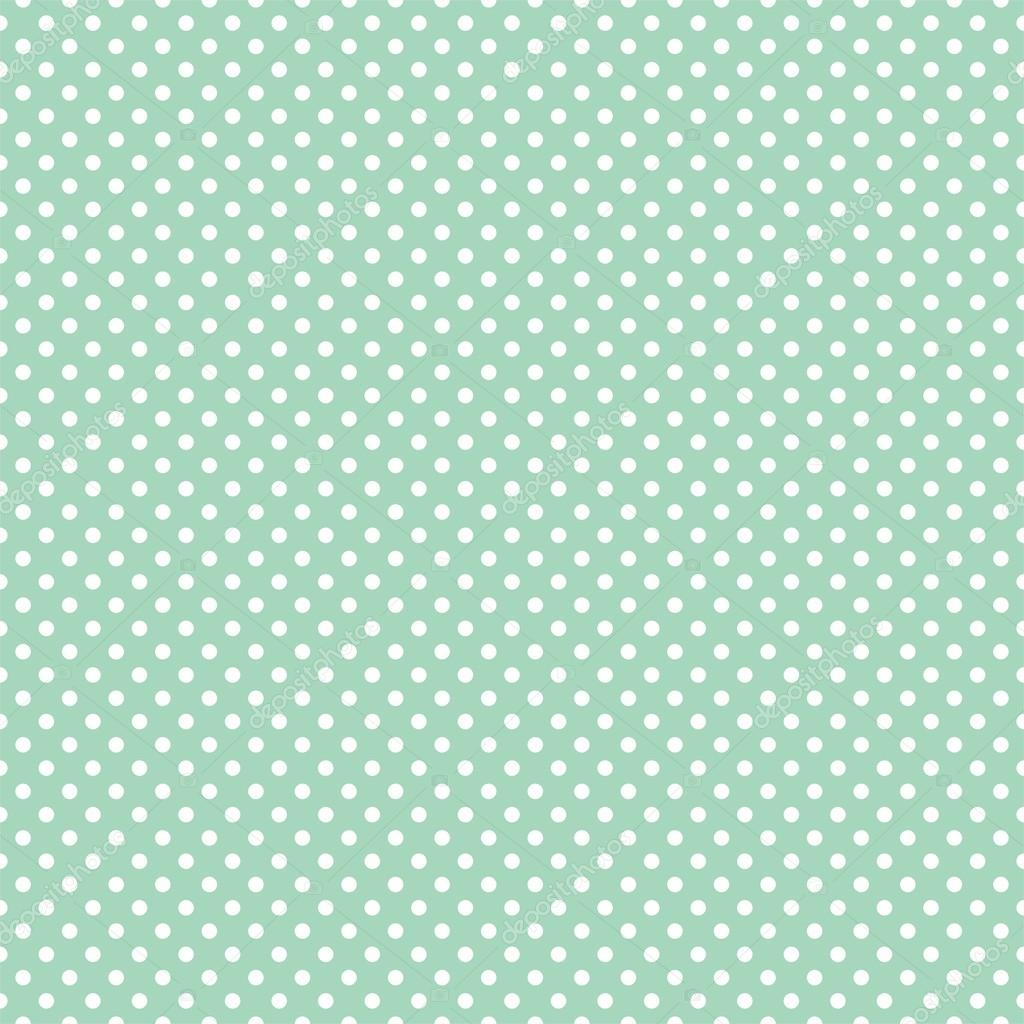 Mini polka dots on fresh mint green background retro seamless vector pattern