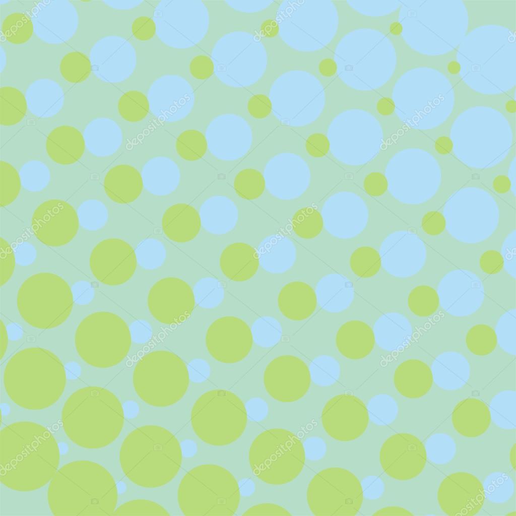Vektor bakgrund - gröna och blå prickar från små till stora - vintage våren  eller sommaren säsong illustration för webbdesign b3fdf4a2baecd