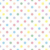 Fotografia consistenza del modello vettoriale senza soluzione di continuità con pois colorati su sfondo bianco