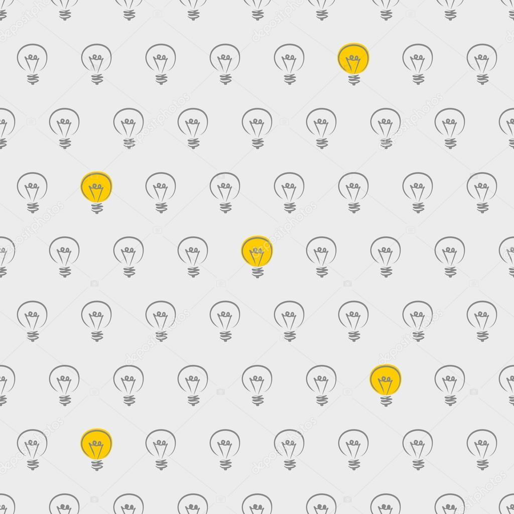 Sfondo Desktop Light Lampadina Sfondo Vettoriale Senza Soluzione