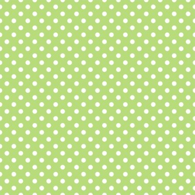 Seamless pattern with small white polka dots on a retro vintage fresh spring green grass background