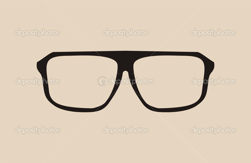Occhiali da vista grandi hipster nero vettoriale u2014 vettoriali stock