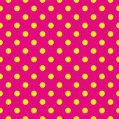 bezešvá vektorová vzor nebo textury s žlutými puntíky na neon růžové pozadí. pro karty, pozvánky, weby, plochy, baby sprcha karty pozadí, večírek, web design, umění a obrázková alba