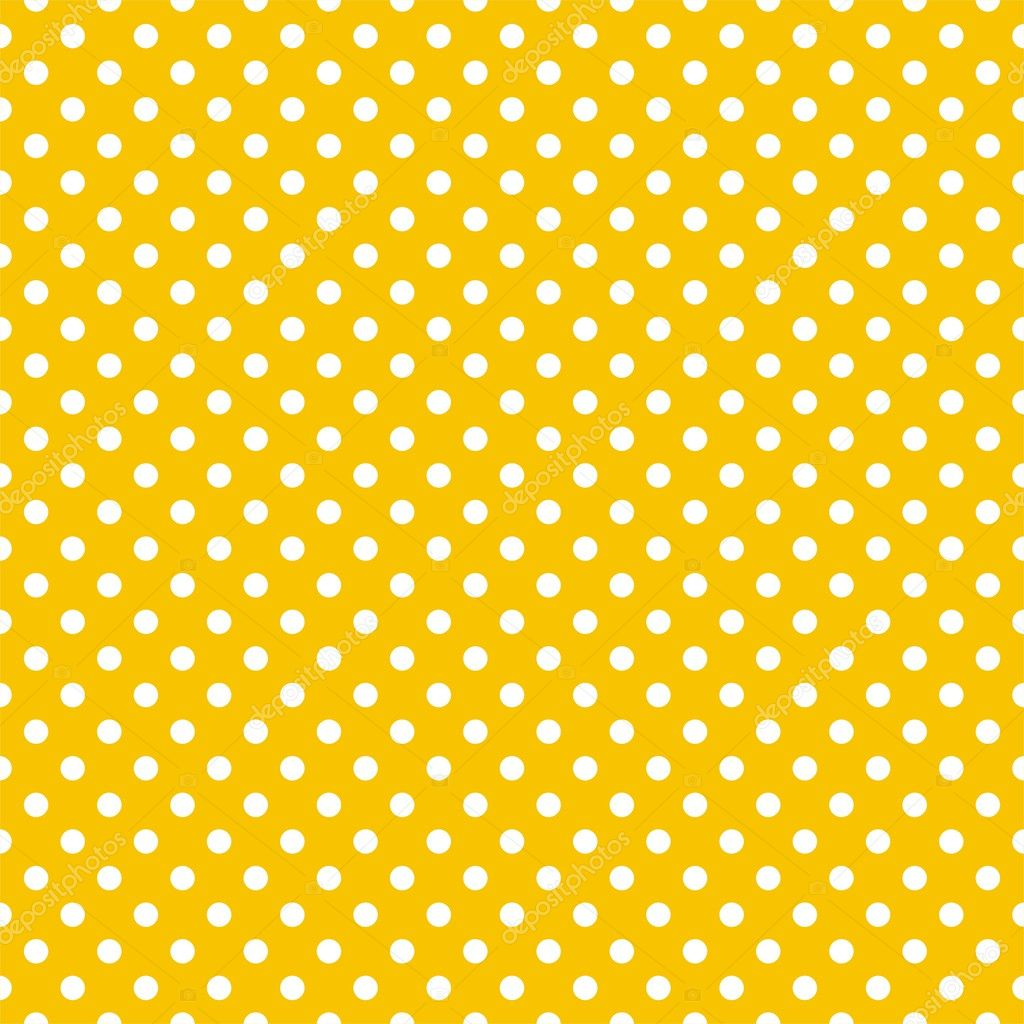 seamless vector pattern with small white polka dots on a sunny yellow background   u2014 stock vector