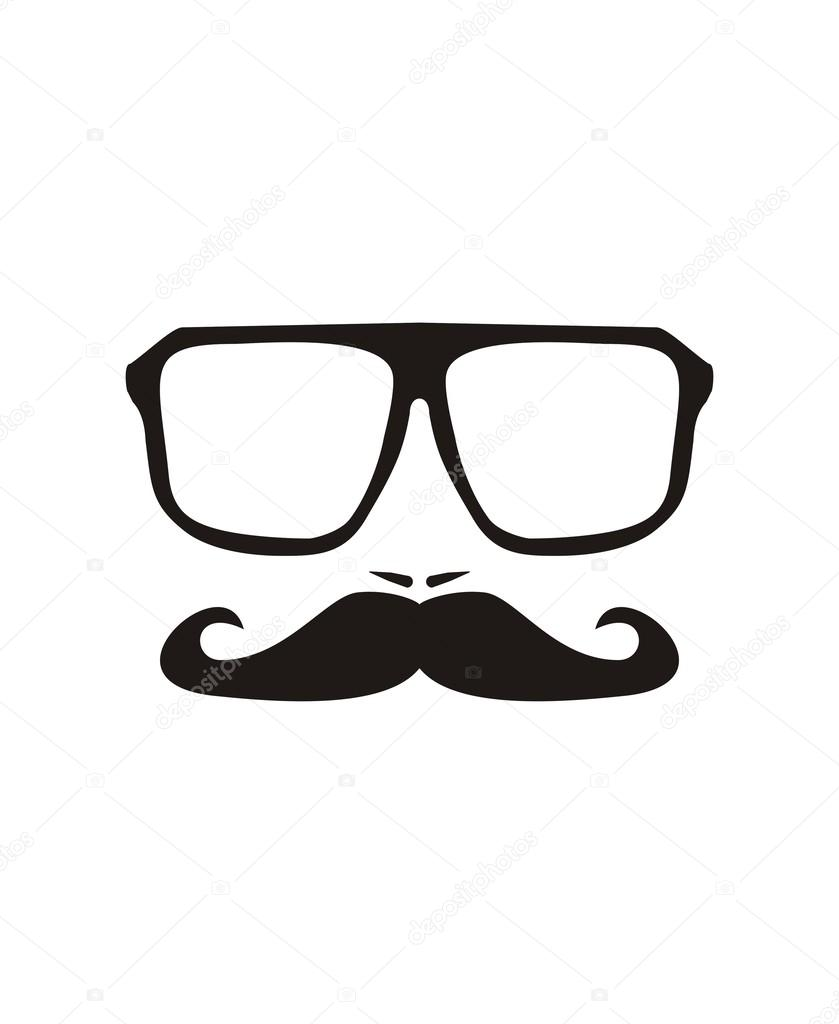 229a0cc5d6a Vector men face with mustache and huge