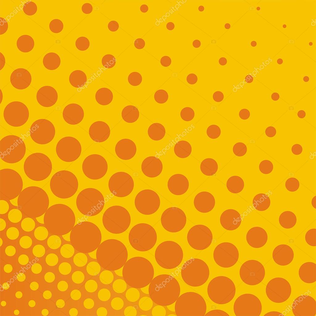 Sommar eller höst vektor bakgrund med varma orange och gula prickar i olika  storlekar från små till stora - vintage illustration — Vektor av mala-ma d95e98cf36231