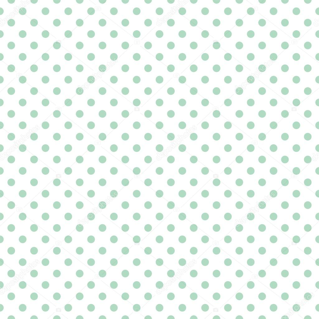 Seamless vector pattern with cute pastel mint green or ...