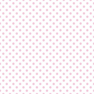 Seamless vector pattern with little pastel pink polka dots on a white background.