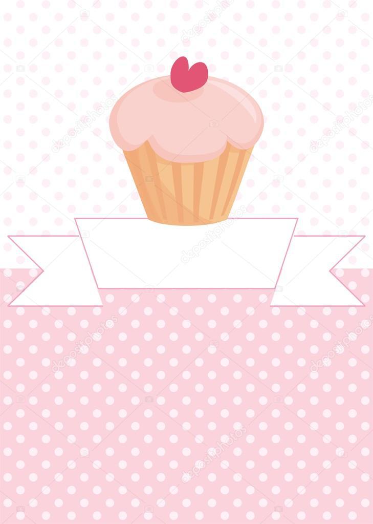 Carta del restaurante Vector, tarjetas de boda, invitación ducha lista o bebé con dulce cupcake ...