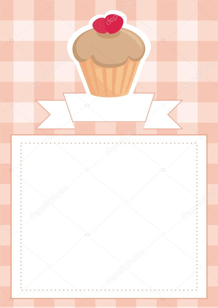 Restaurant vector menu wedding card list or baby shower invitation restaurant vector menu wedding card list or baby shower invitation with sweet toffee and strawberries cupcake stopboris Image collections