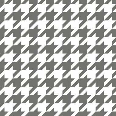 Houndstooth vector seamless pattern. Traditional Scottish plaid fabric for colorful website background or desktop wallpaper in grey or brown and white color.