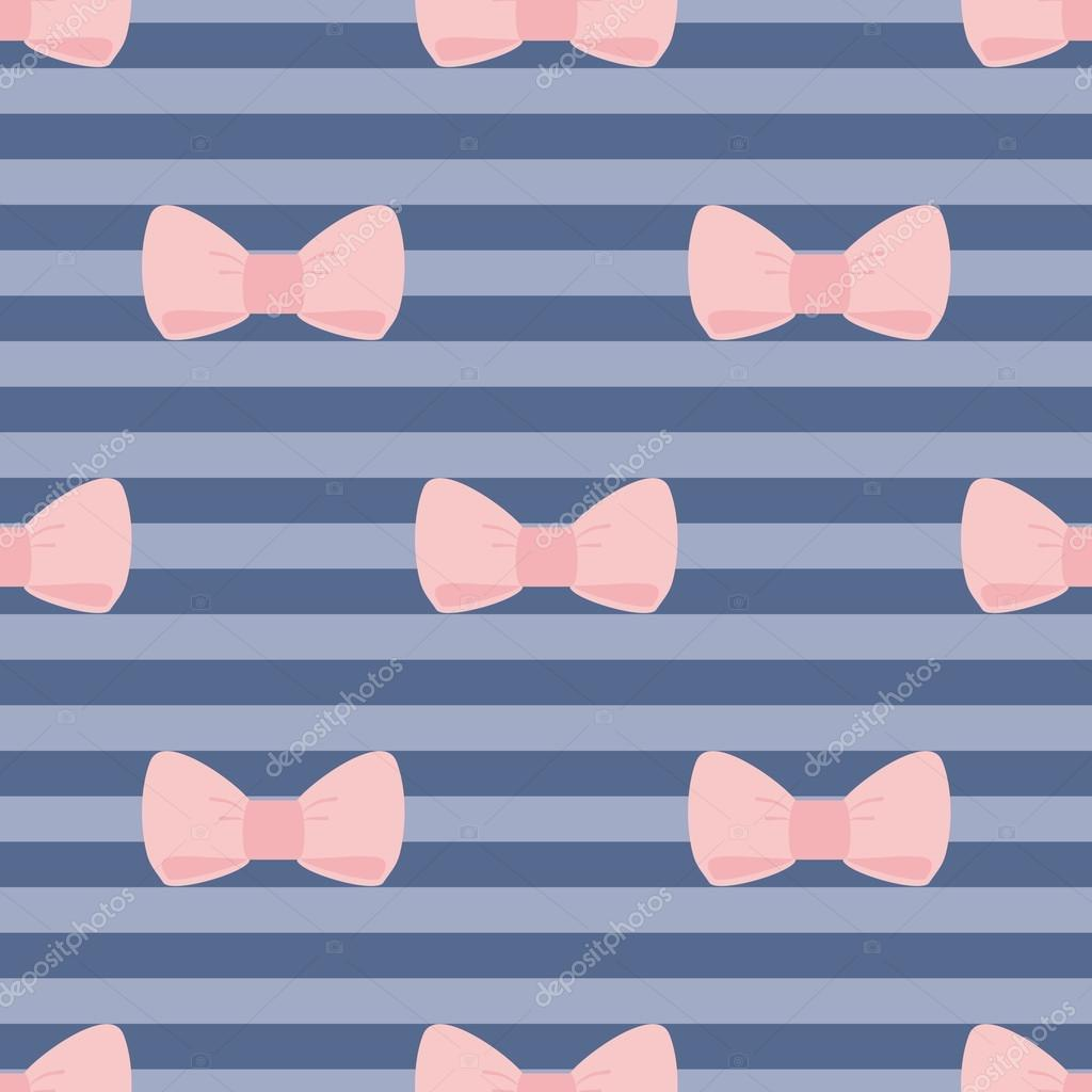 Pastel Pink And Navy Blue Wedding Seamless Vector Pattern
