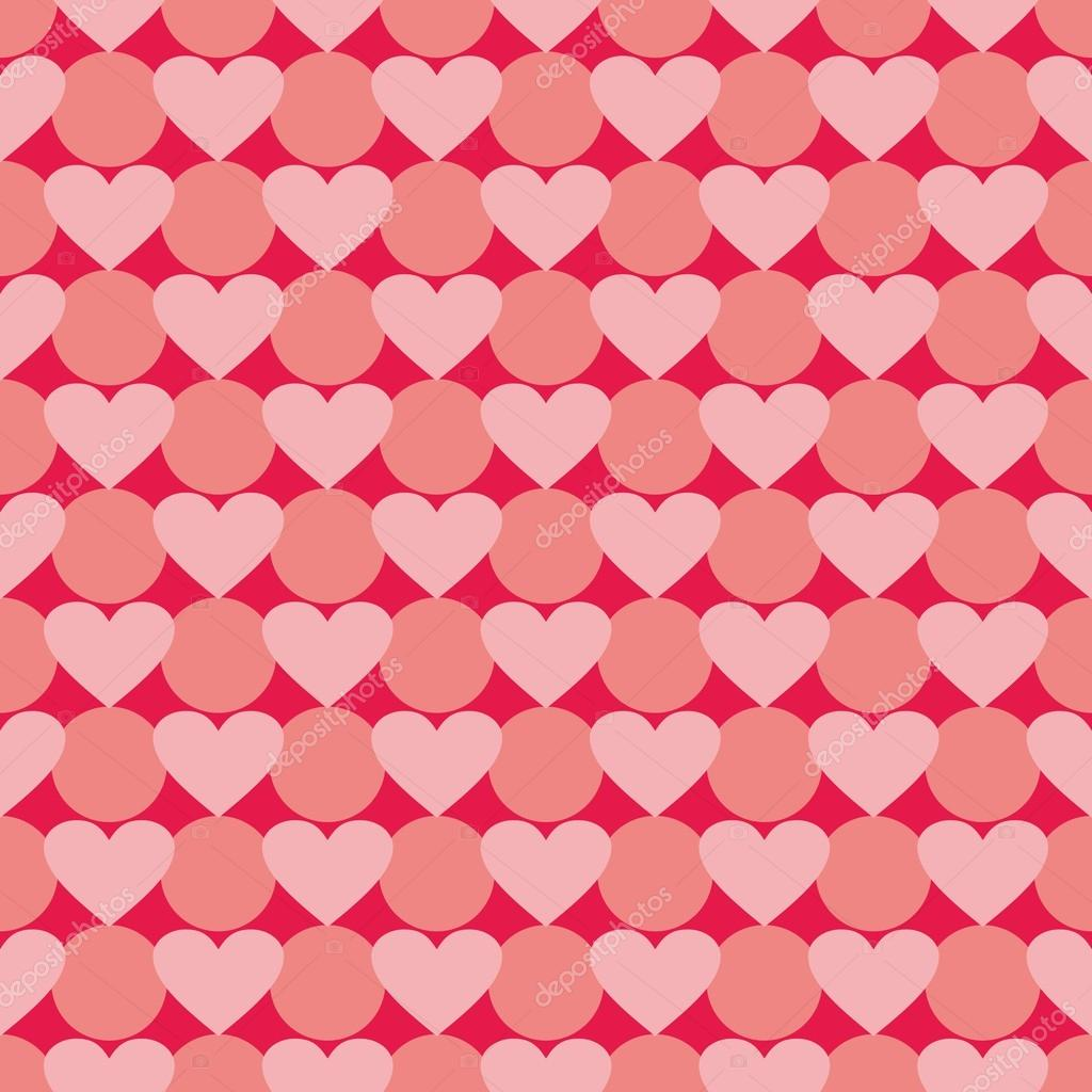 Pink And Red Vector Valentines Background With Hearts Full Of Love Seamless Pattern For Kids Desktop Wallpaper Or Website Design Premium Vector In Adobe Illustrator Ai Ai Format Encapsulated