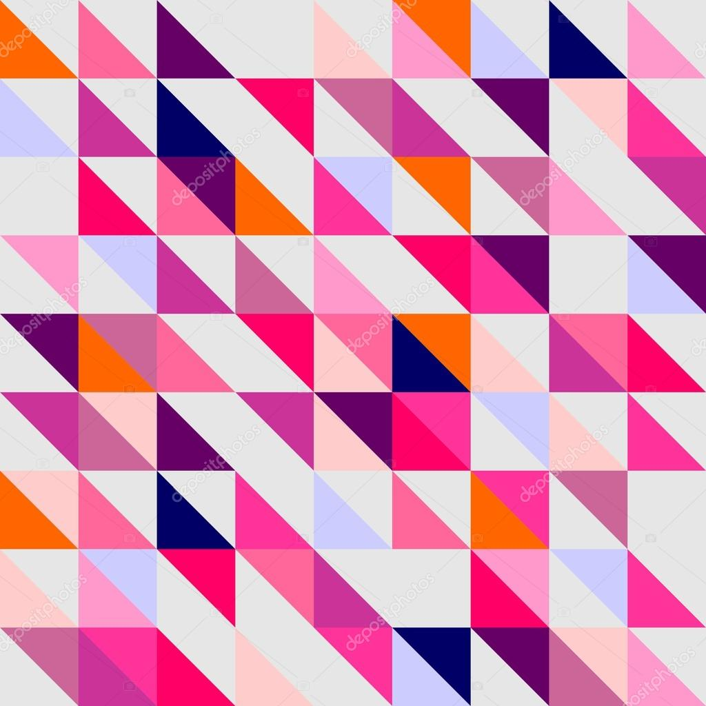 Violet Navy Blue Pink And Dark Grey Colorful Geometric Mosaic Shape Hipster Flat Surface Design Triangle Desktop Wallpaper With Chevron Zig Zag Print For