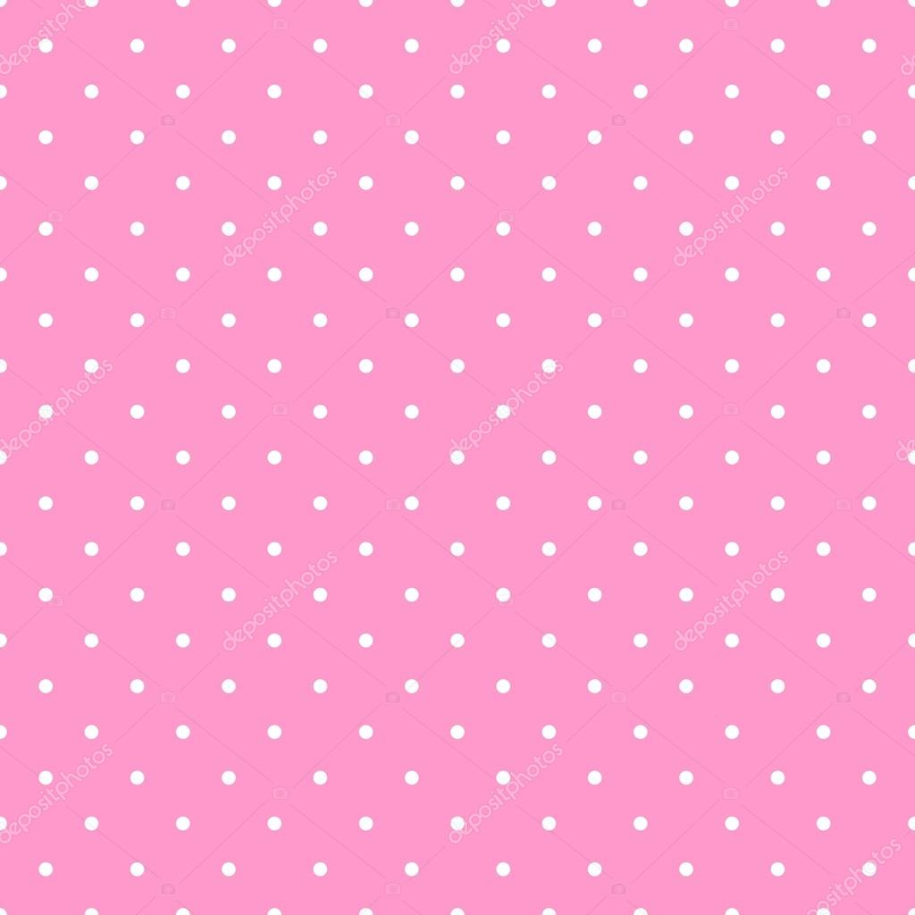 Pics photos pink polka dot s wallpaper - Seamless Vector Pattern With White Polka Dots On A Pastel Pink Background For Desktop Wallpaper