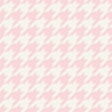 Houndstooth vector seamless pastel pink and grey pattern or tile tartan background. Traditional Scottish tweed plaid fabric for website background or cute desktop wallpaper.