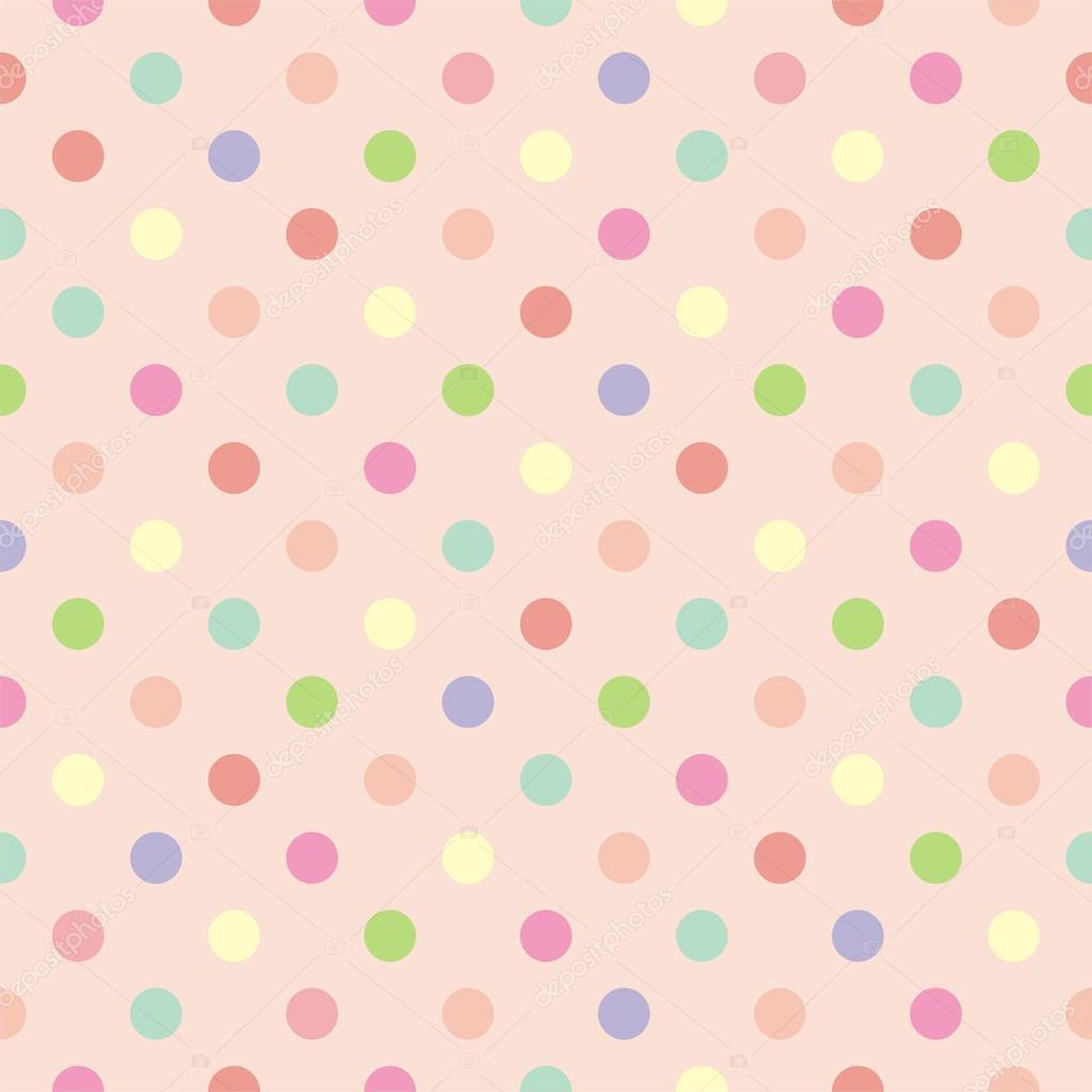 Fondo colorido vector con lunares sobre fondo rosa bebé - retro de ...