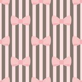 varrat nélküli vektoros mintát a csokoládé cserép barna csíkos háttér, pasztell rózsaszín íjakkal. iskolapad tapéta aranyos gyerekek háttér vagy website design