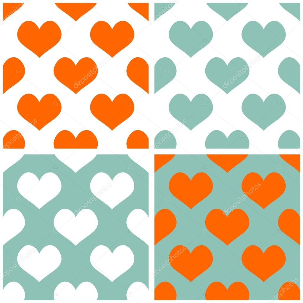 Wallpapers Cats For Desktop Seamless Vector Pastel Hearts