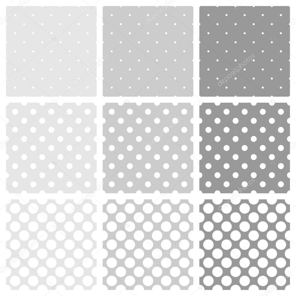 Sömlös vector vit och grå kakel mönster eller bakgrund med stora och små  prickar — Stock 55a1eeab23c89