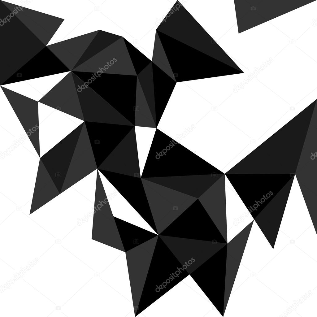 triangle sombre vector background ou motif. surface plate blanche ...