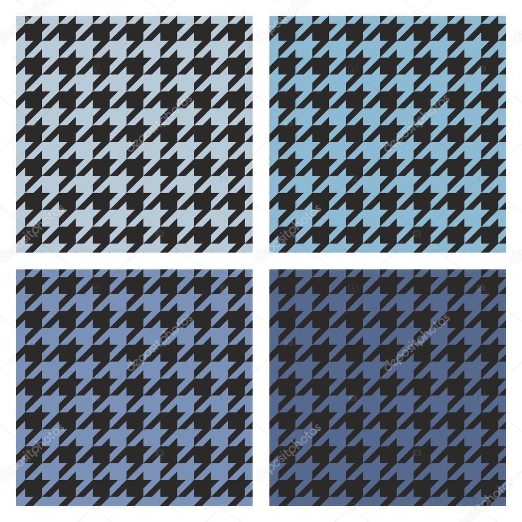 Houndstooth Vektor Fliese dunkelblau und schwarz Häkelanleitung set ...