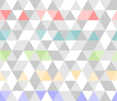 Colorful tile background vector illustration. Grey, yellow, pink and violet pastel triangle geometric flat surface wallpaper
