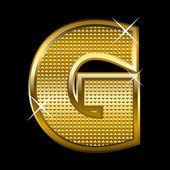 Photo Golden font type letter G