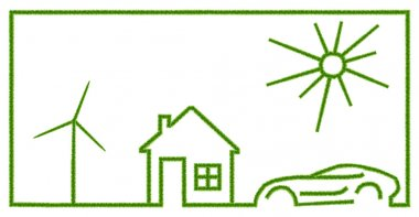 Green ecology set on white background