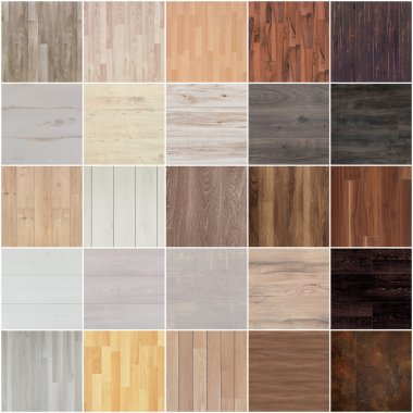 Set of floor wood texture