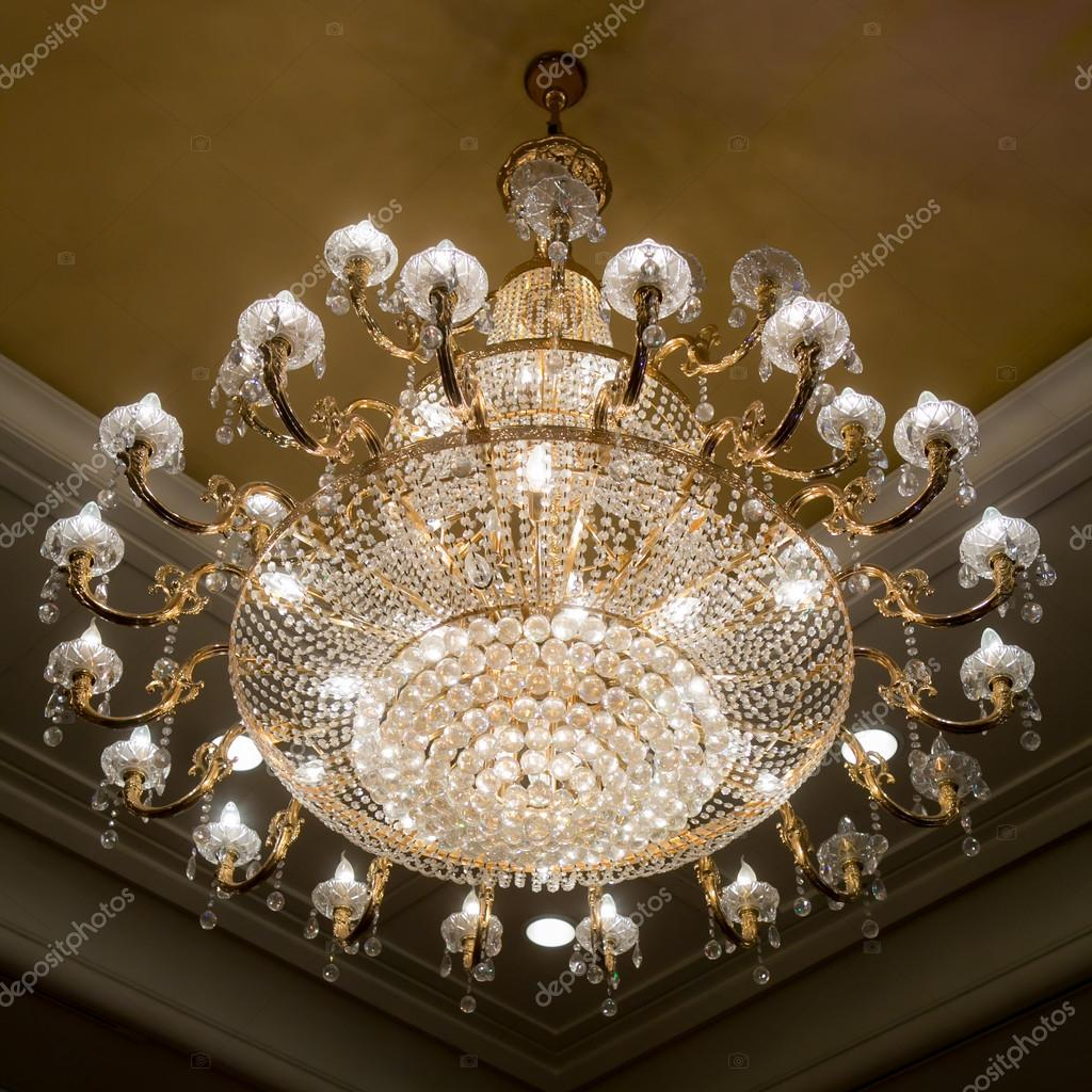 Elegant crystal chandelier stock photo piyagoon 31948989 elegant crystal chandelier stock photo 31948989 arubaitofo Choice Image