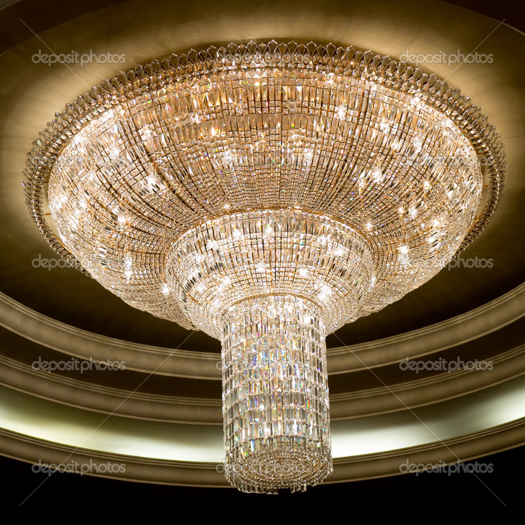 Elegant crystal chandelier stock photo piyagoon 32162681 elegant crystal chandelier stock photo 32162681 arubaitofo Choice Image