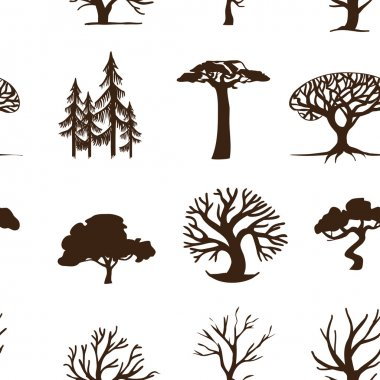 seamless background trees