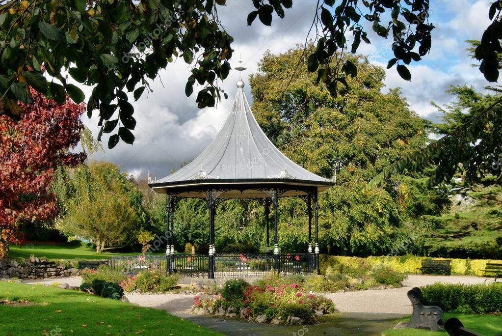 Bandstand in gardens, Grange-Over-Sands, Cumbria