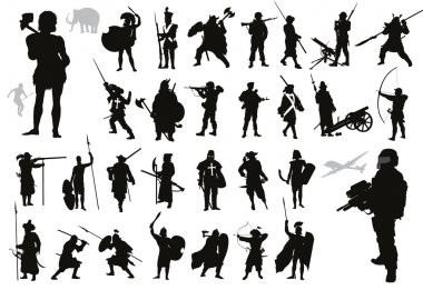 Warriors collection.  Vector
