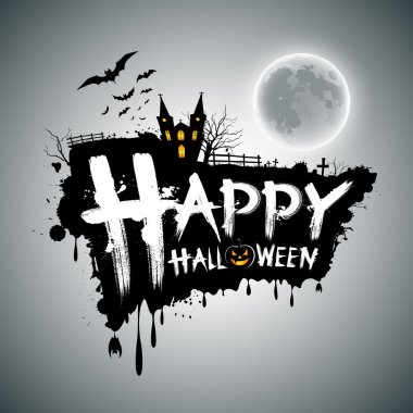 Happy Halloween message design background