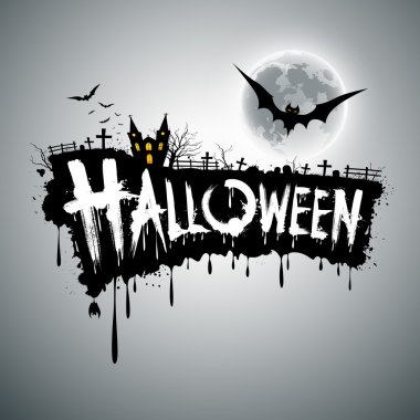 Happy Halloween text design background