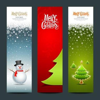 Merry Christmas, banner design vertical background