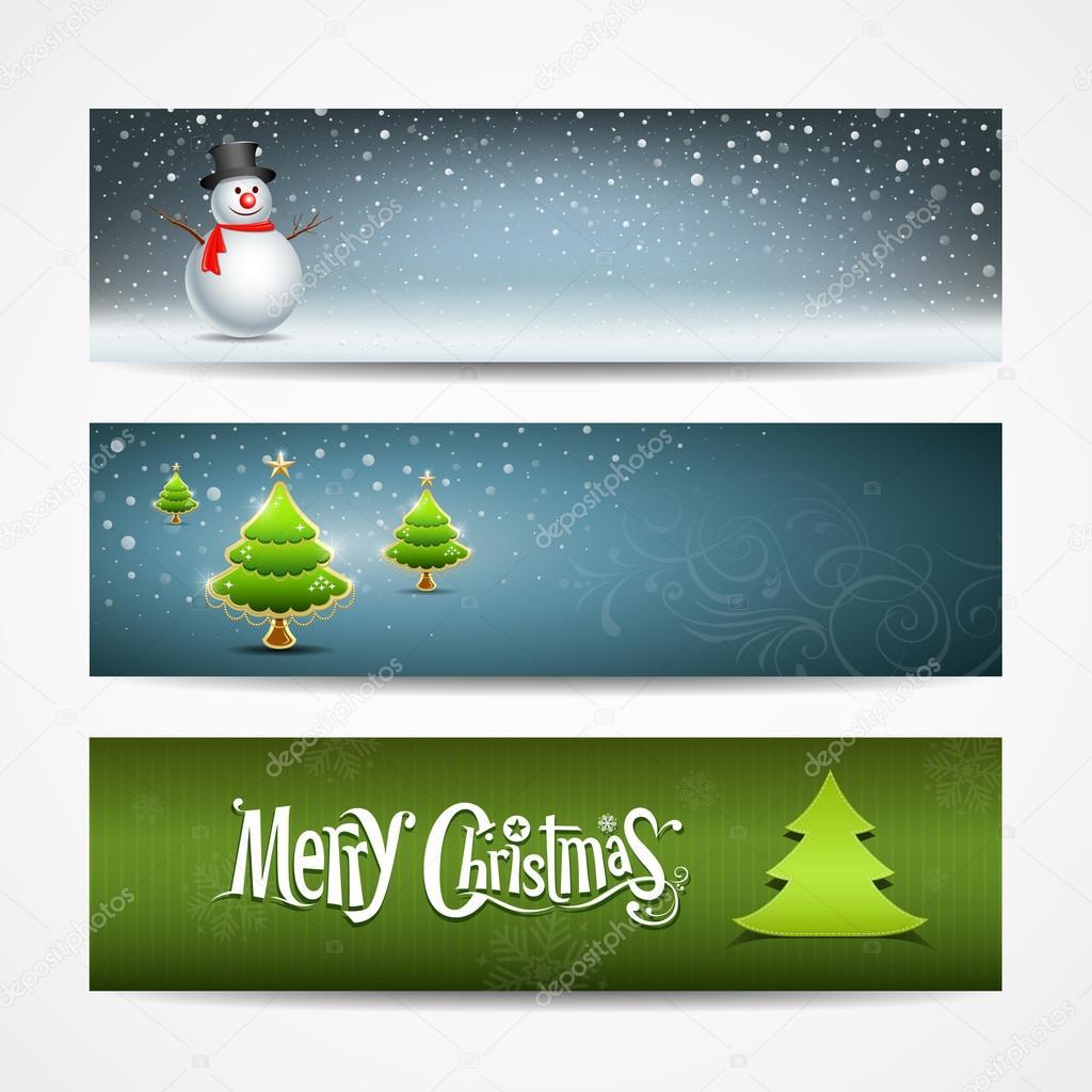 frohe weihnachten banner stockvektor 14006068. Black Bedroom Furniture Sets. Home Design Ideas