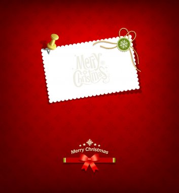 Merry christmas paper white card message