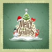 Fényképek Vidám karácsony vintage design üdvözlőlap háttér