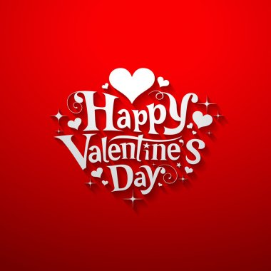 Happy Valentine day message banner design
