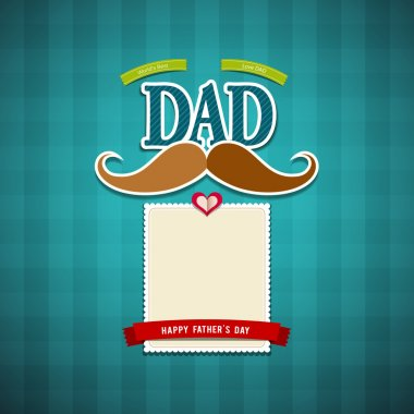 Happy fathers day greeting card background