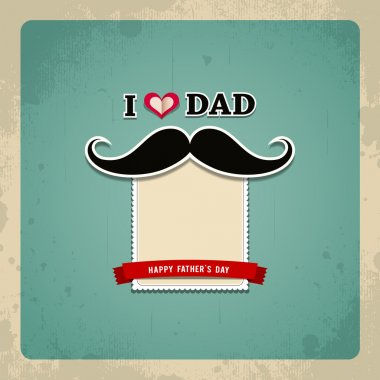 Happy fathers day vintage greeting card background