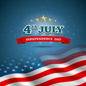 Photo Independence day Flag of American design background