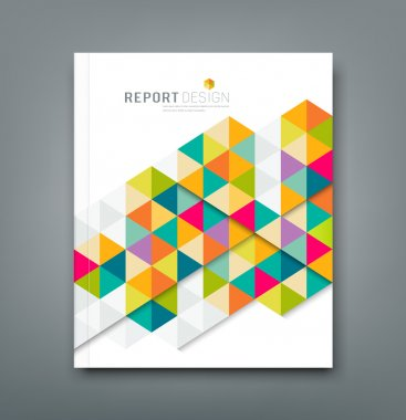 Cover report abstract colorful geometric template design