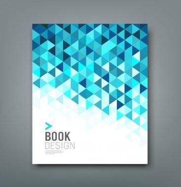 Cover report blue triangle geometric pattern design